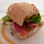 Salami Spinach Sandwich