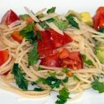 Spaghetti Tomato Avocado