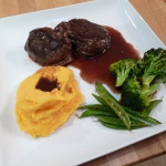 Tenderloin, Saute Brocoli and Sweet Mashed Potatoes