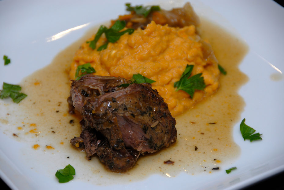 BRAISED LAMB SHANK WITH MASHED SWEET POTATOES ON FEBRUARY ...