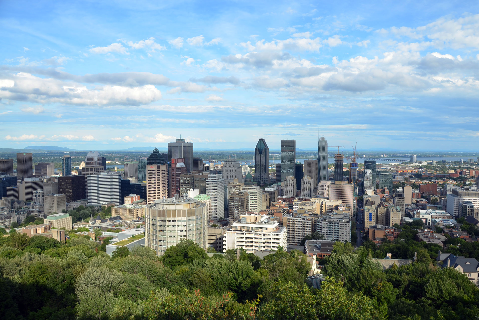 Montreal view from Mont Royal